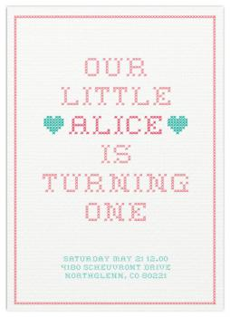 stitchy girl Party Invitations