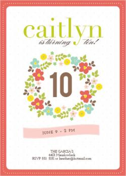 Wreathed in Love Party Invitations