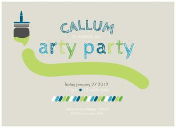Arty Party Party Invitations