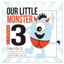 Monster Bash Party Invitations