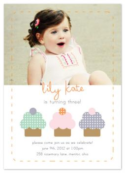 Crafty Cupcakes Party Invitations
