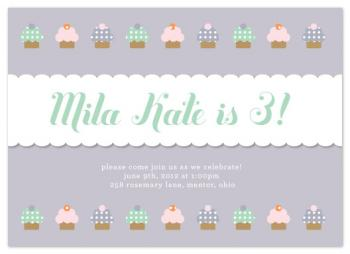 Cupcake Cutie Party Invitations