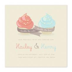 Double Cupcake Fun Party Invitations