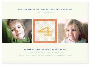 Numbered Block Party Invitations