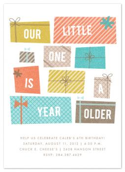Stacked Presents Party Invitations