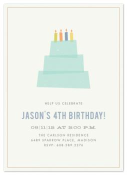 Birthday Cake Party Invitations