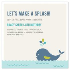 Make a Splash! Party Invitations