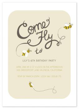 Come Fly to the Party Party Invitations