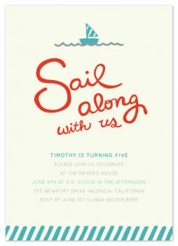 Sail Along with Us Party Invitations