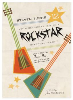 Party like a rockstar Party Invitations
