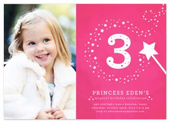 little miss magic Party Invitations
