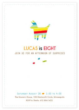 Piñata Surprise Party Invitations