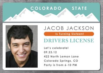 Drivers License Party Invitations