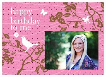 Polka Dot Birthday Bird Party Invitation Party Invitations