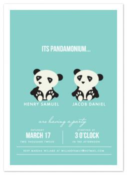 Pandamonium Party Invitations