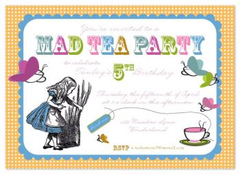 Mad Tea Party Party Invitations