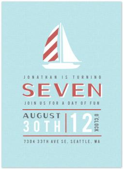 Birthday Sailing Party Invitations