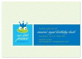 Frog Prince Party Invitations