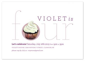 Classic Cupcake Party Invitations