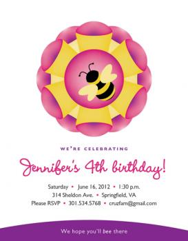 We Hope You'll Bee There Party Invitations
