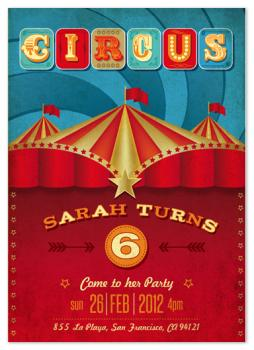 Circusparty Party Invitations
