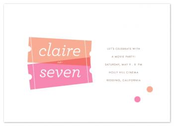 Birthday Ticket Party Invitations