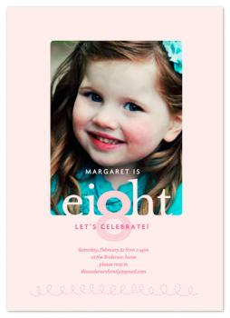 Celebrate eight! Party Invitations