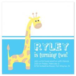 Giraffe Party Invitations
