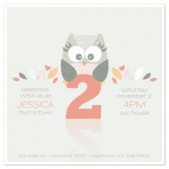 Whoooo's Birthday? Party Invitations