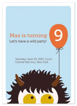 Wild Thing Party Invitations
