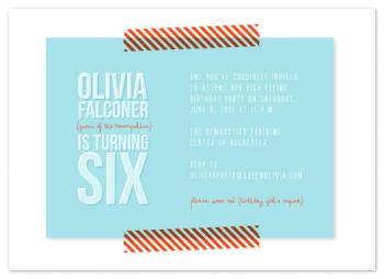 Queen of the Trampoline Party Invitations