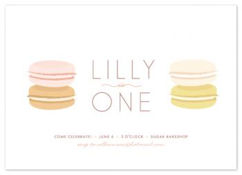 Pastel Macaron Party Invitations