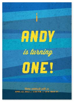 Rusty Blue Party Invitations