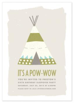 Pow-Wow Party Invitations