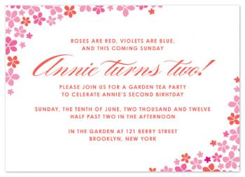 Roses Are Red Party Invitations