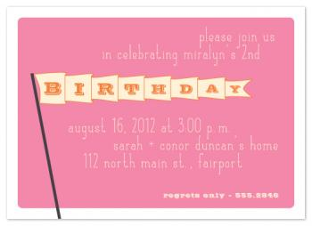 Birthday Flag Party Invitations