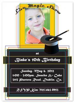 Abracadabra Party Invitations