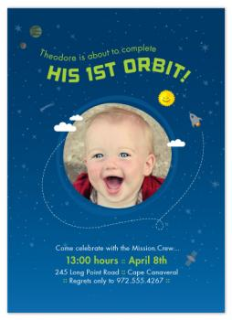 Orbit Around the Sun Party Invitations