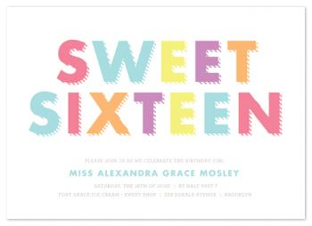 Sixteen Stripes Party Invitations