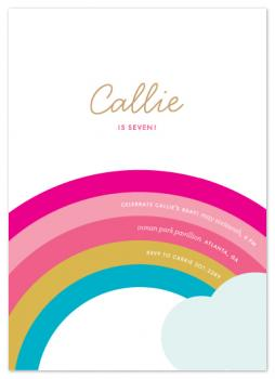 Over the Rainbow Party Invitations