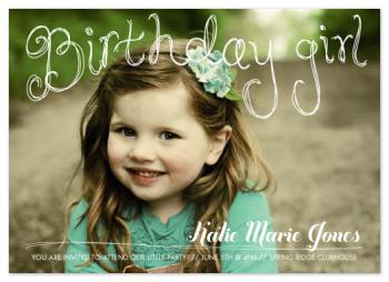 Sweet Birthday Type Party Invitations