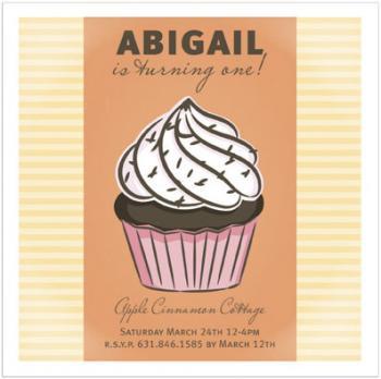 Cupcake Party Invitations