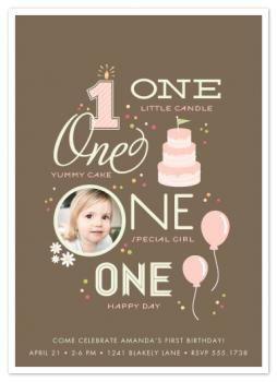 One Happy Day Party Invitations