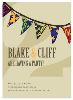 it's a party for 2! Party Invitations