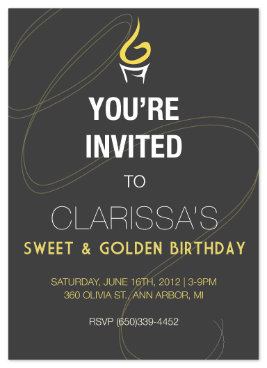 party invitations - Golden by Angela Chih