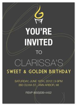 Golden Party Invitations