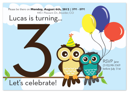 party invitations - Owls by Angela Chih