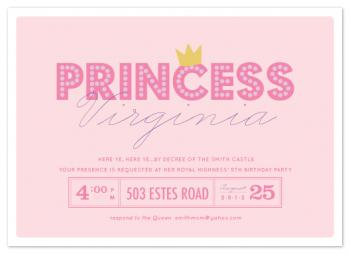 party princess Party Invitations