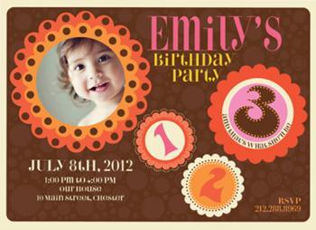 Birthday Flowers Party Invitations
