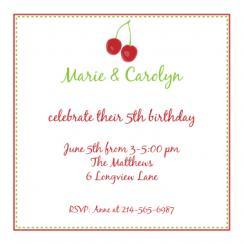 Cherry on top Birthday Invitation Party Invitations